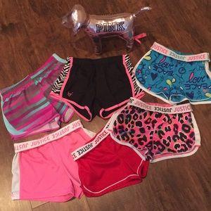 LOT 6 pairs Girls Athletic Shorts